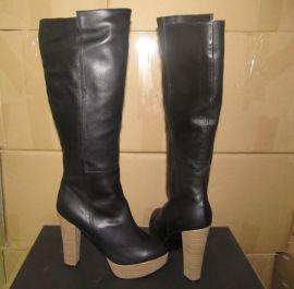 外贸鞋厂专业看图起版订做杂志潮流明星款高跟长靴批发