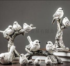 家居工艺品 美式小鸟摆件