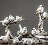 家居工藝品 美式小鳥擺件