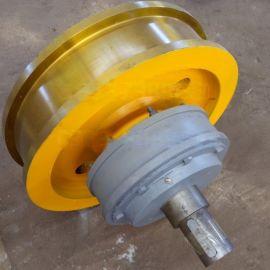 铸造双边主动车轮组 双梁驱动行走轮耐磨使用寿命长