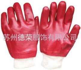 红色PVC手套