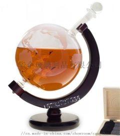 帆船地球仪玻璃酒瓶地球仪醒酒器