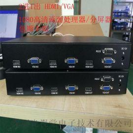 随意组合HDMI/VGA画中画2路高清画面分割器分屏器合成拼接器13751107814陈**