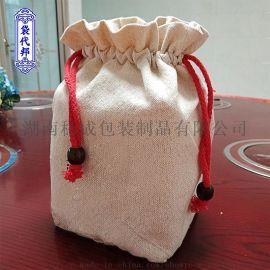 棉布袋束口袋 湖南袋代邦包装 定做礼品袋