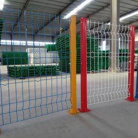 沃达欧式加强护栏网 工厂隔离防护栏 三角折弯园林铁丝网围栏