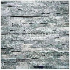 厂家供应天然绿色蘑菇石深绿色墙面砖 荷花绿蘑菇石文化石