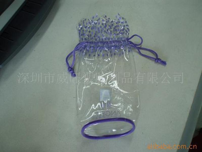 定制 PVC收纳袋,PVC穿绳袋,PVC化妆袋