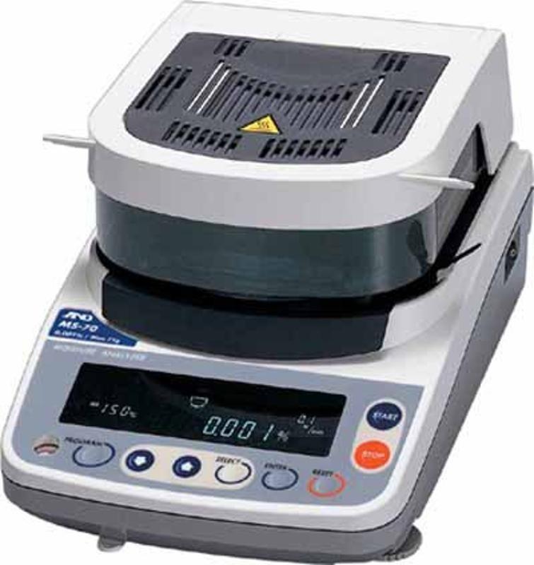 供应日本卤素水分仪ML-50快速水份测定仪 物料含水率的快速测定