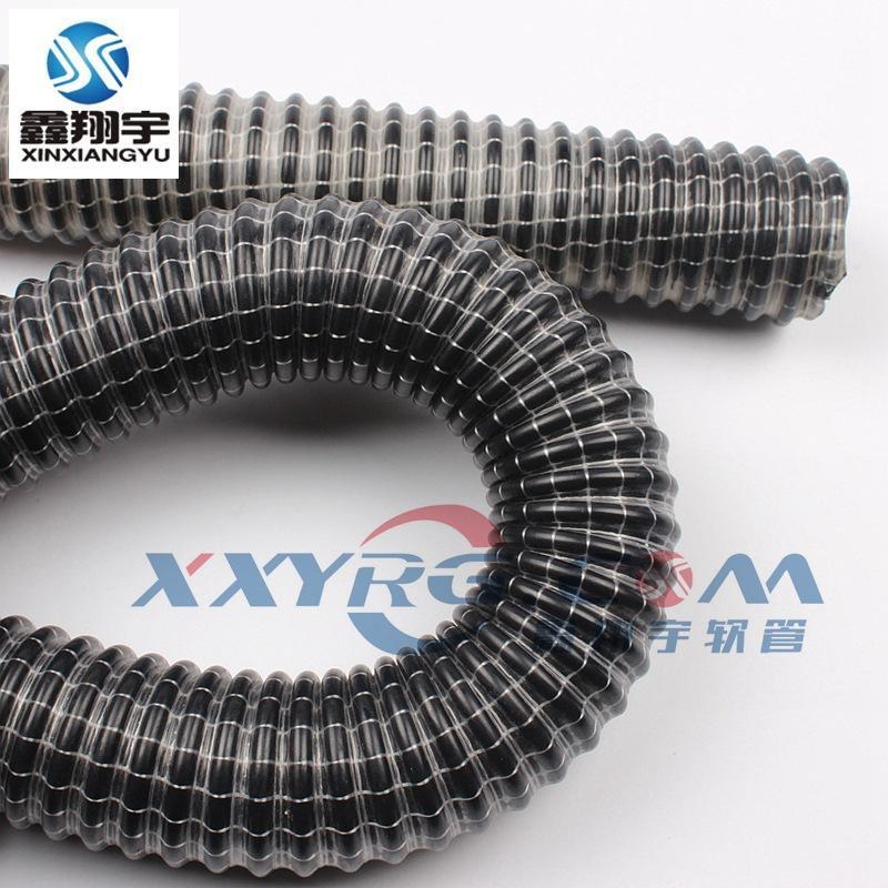 真空吸尘管,PVC白色纤维线增强软管,蛇皮管,伸缩吸尘管