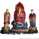 直銷佛像鍍金地藏王菩薩地藏菩薩童子樹脂神像