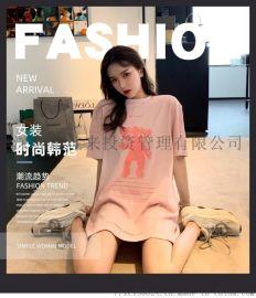 夏季女装新款连衣裙女韩版外贸上衣中长款裙子