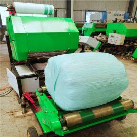 青储包膜打捆一体机,大型玉米秸秆打捆机