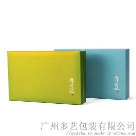 定制精装天地盖礼品盒 烫金LOGO茶叶包装盒
