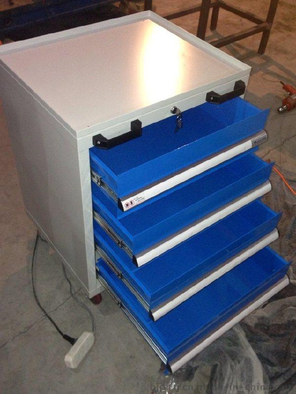 四抽移动工具柜工具车车间零件柜