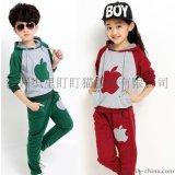 童装2015秋季男童女童时尚长袖套装