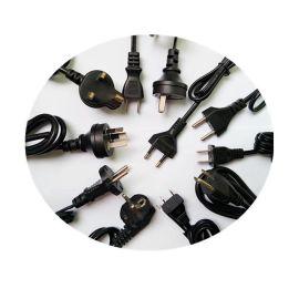 国标电线三插电源线三芯电缆线RVV3*0.75 电源插头线可定制