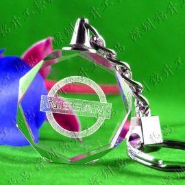 钥匙扣批发 发光led水晶钥匙扣 产品宣传礼品