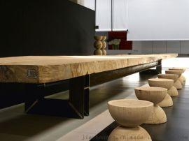 家山艺术现代原木家具