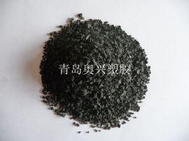 青岛胶州黑色橡胶颗粒厂家价格