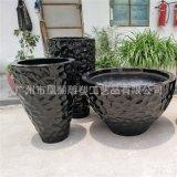 工廠直銷玻璃鋼花盆 圓形花鉢組合 適用商場辦公室園林花盆