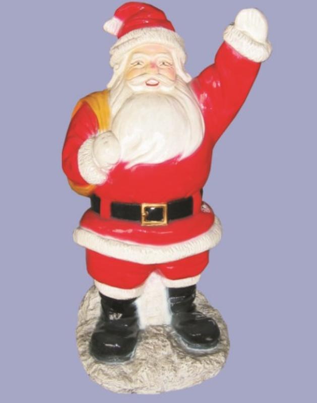 廠家生產 定做 玻璃鋼卡通雕塑 童話雕像 聖誕老人 節日喜慶雕塑