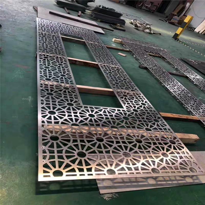 客厅中式花格不锈钢会所高端金属屏风定制加工佛山利创屏风厂家