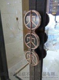 装饰水晶不锈钢拉手 酒店不锈钢门把手 佛山不锈钢拉手加工厂家