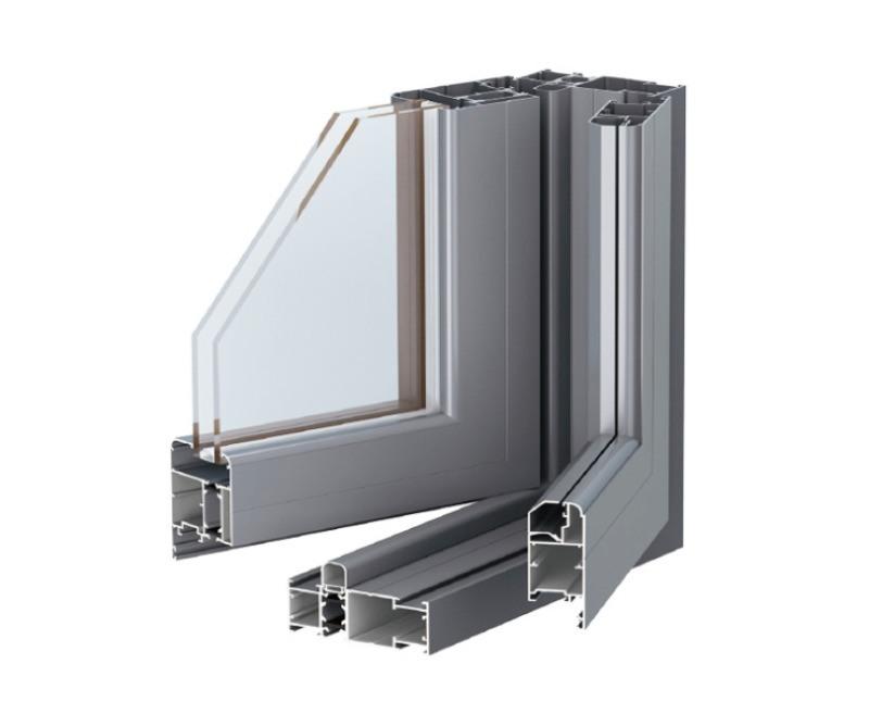 工厂定制108系列断桥铝防虫隔音隔热窗纱一体窗