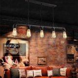 美式工业风水管吊灯时尚创意餐厅/吧台/酒吧/咖啡厅铁艺五头吊灯MS-P6104