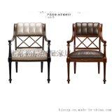 歐式實木餐廳傢俱/別墅會所樣板房餐椅