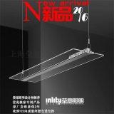 瑩亮照明透明吊燈客廳餐廳辦公現代創意簡約水晶LED吊燈新款