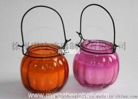 明政玻璃厂 生产 定做 南瓜香薰瓶 蜡烛瓶 玻璃烛台