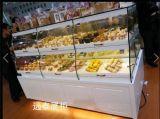 深圳面包展柜制作工厂玻璃带LED灯条大气优雅面包蛋糕展示柜定制