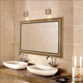 欧美复古卫浴镜子 洗手间酒店浴室镜 厂家批发 长方形半身挂镜