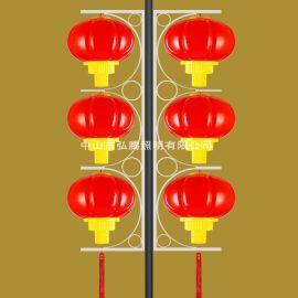 弘腾照明LED商业广告印字灯笼、LED亚克力防水灯笼串