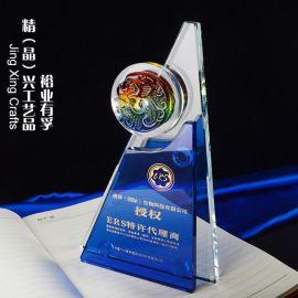 廣州琉璃水晶獎牌 企業商務活動紀念贈品 年度優秀員工表彰獎牌