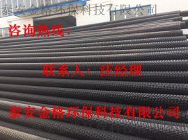 曲纹网状pe硬式透水管50—300mm,工厂有现货