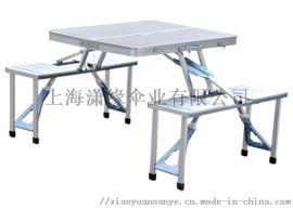 连体折叠桌椅、休闲桌椅