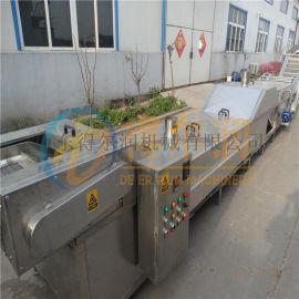 武汉 莲藕漂烫机 304蒸煮冷却机 水果漂烫护色机