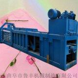 青岛秸秆卧式捆扎打包机   大型液压卧式打包机图片