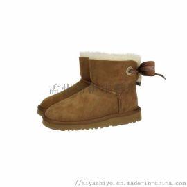 AIYA雪地靴品牌新品羊皮毛一体彩色女靴
