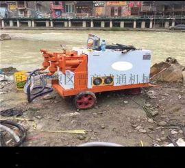 广东梅州市安徽铜陵公路液压砂浆泵路面液压砂浆泵