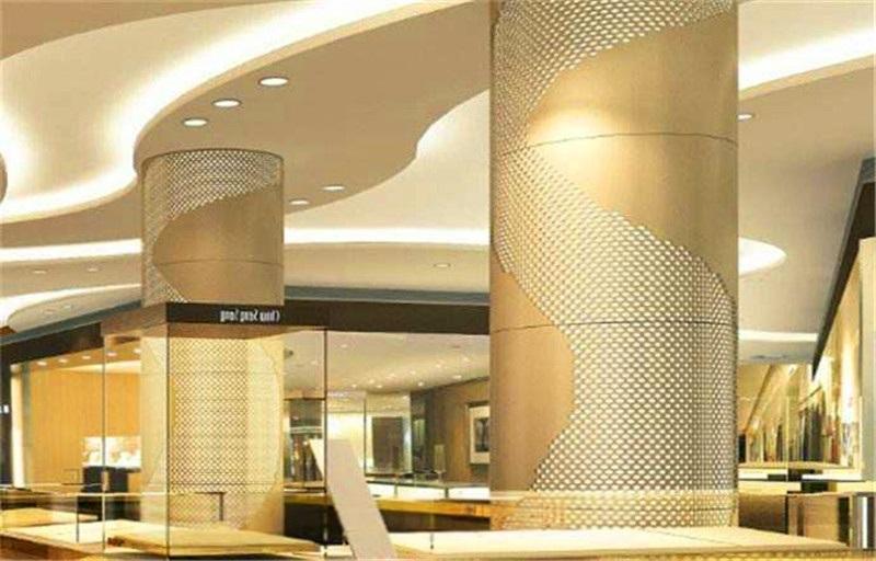 北京万达广场门头包柱铝单板