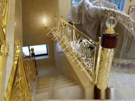 扬州楼梯铝艺楼梯铝合金扶手别墅专款定制