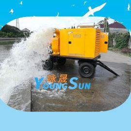 防汛移动泵车800立方 柴油机自吸泵 柴油机水泵