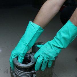 厂家直销丁腈手套 防腐蚀耐酸碱化工耐油耐磨劳保手套