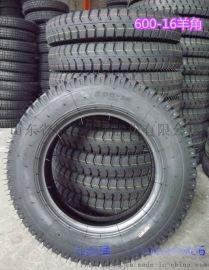 6.00-16农用三轮车轮胎,羊角花纹拖拉机轮胎