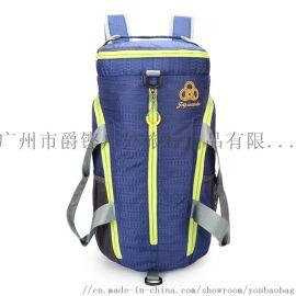 定制折叠运动包便携防泼水多功能健身双肩包广州背包厂