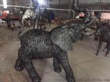 金属动物铁艺摆件 大象铁艺摆件 铁艺马雕塑摆件厂家