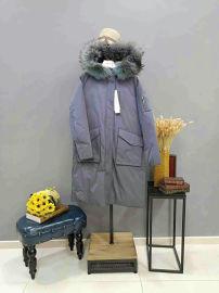 羽絨服薩曼斯汀品牌折扣女裝熱批中品質高款式時尚